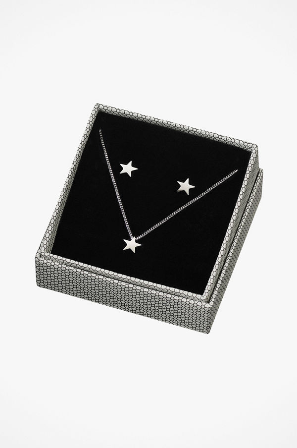 Edblad smycke Örhängen + Halsband Sirius Set Steel