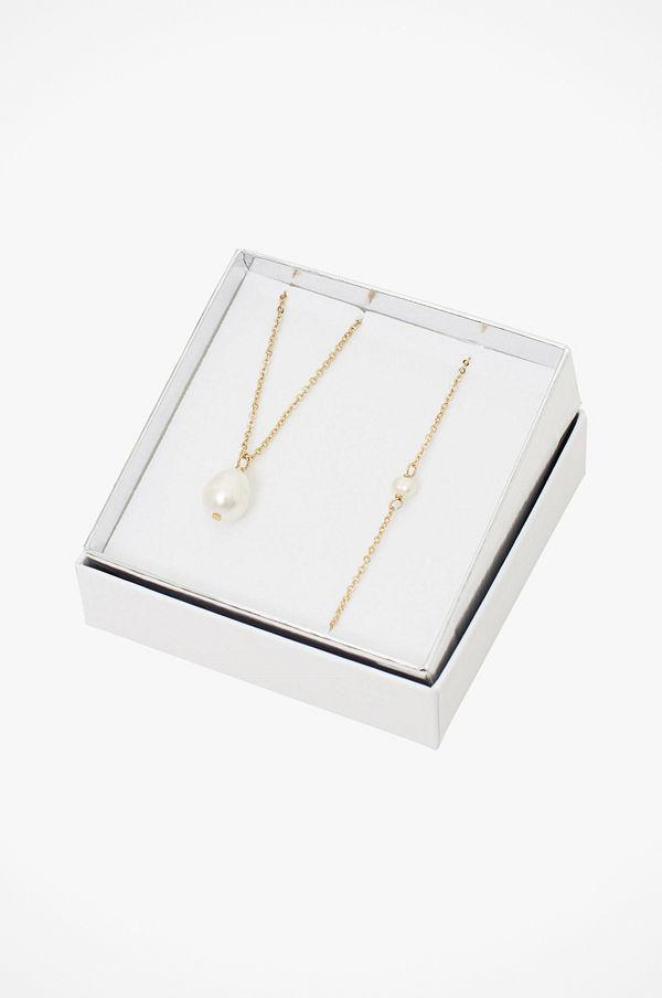 SNÖ of Sweden smycke Halsband Crystal Pearl Neck Set 2-pack