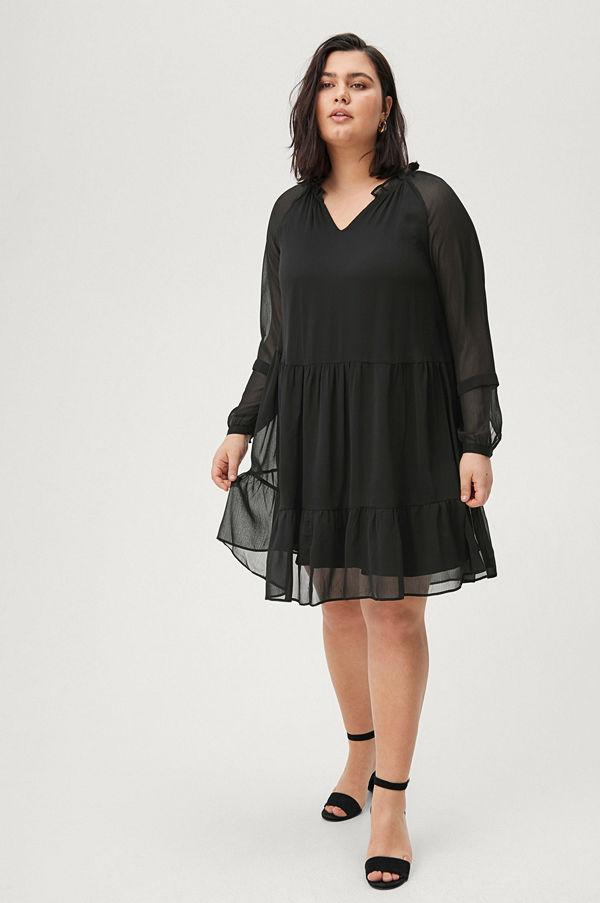 Zizzi Klänning xVananda LS Blk Dress Klänningar online