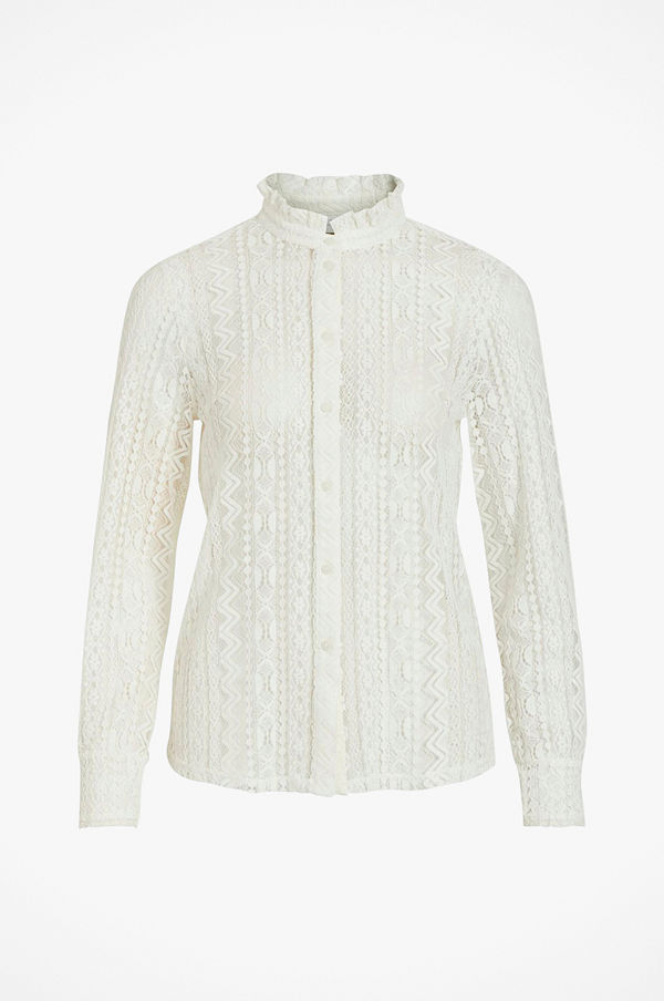 Vila Spetsblus viJenna L/S Lace Shirt