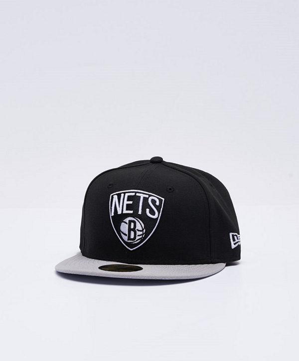 New Era 59 Fifty Brooklyn Nets Black/Grey
