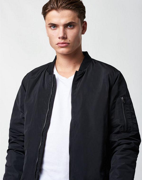 William Baxter Balthazar Bomber Black Jacket