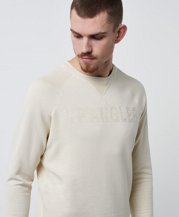 Wrangler 1947 Crew Sweat Whitecap Beige