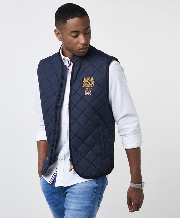 Morris Trenton Quilted Vest Old Blue