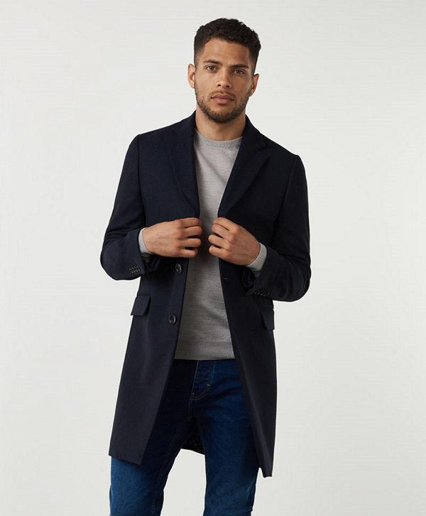 Studio Total Lambton Wool Coat Navy
