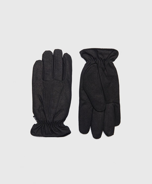 WESC Reson Suede Gloves Black