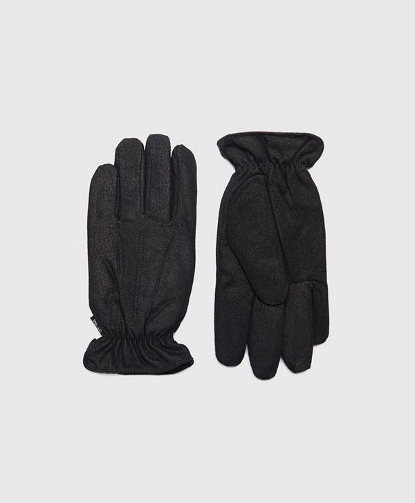 WESC Reson Suede Gloves Black