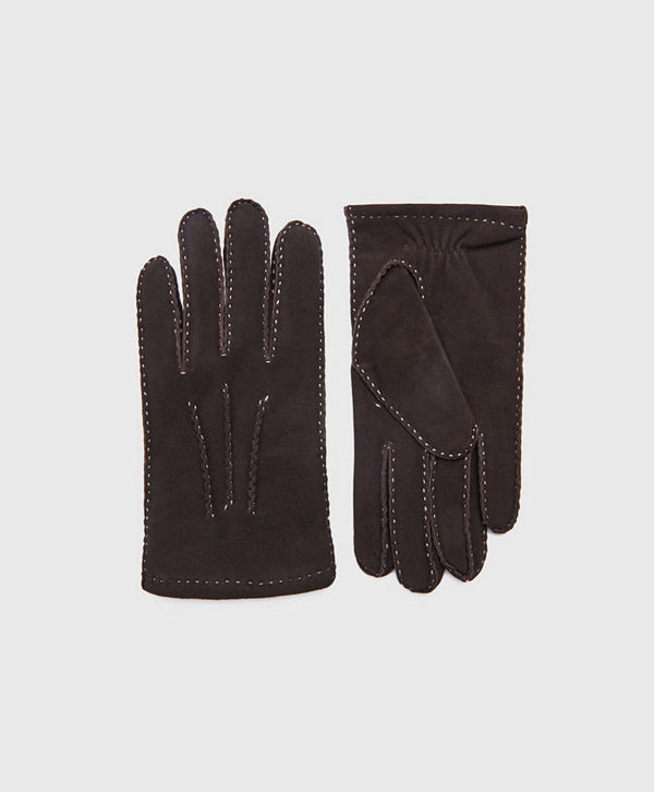 Amanda Christensen Gents Glove Suede Brown
