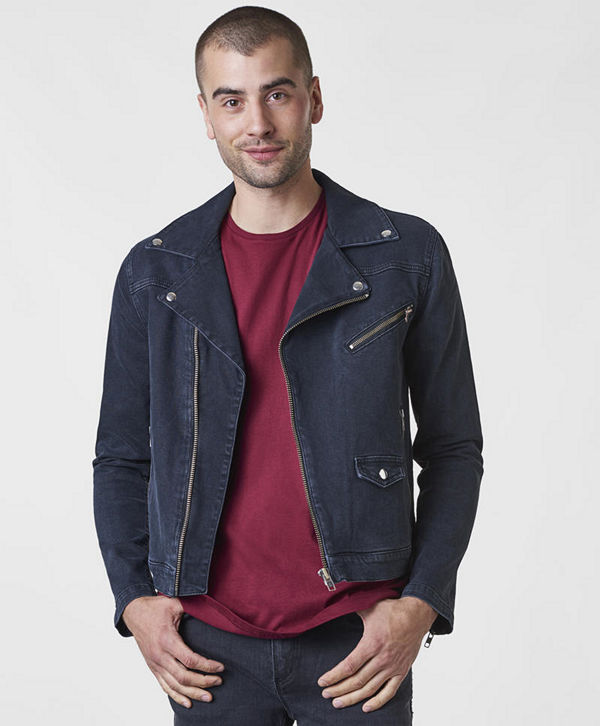 William Baxter Hoffman Denim Biker Black