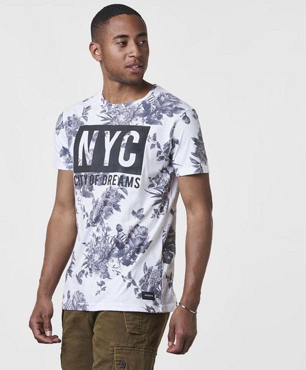 Speechless NYC Tee White