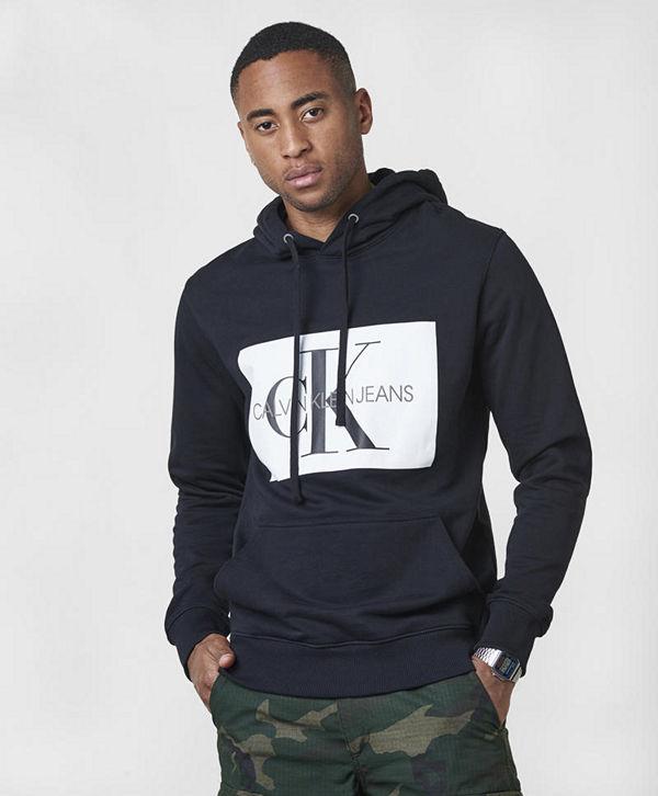 Calvin Klein Jeans Monogram Box Logo Hoodie 099 Black