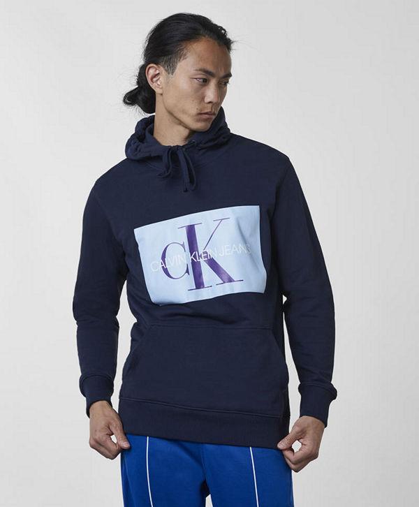 Calvin Klein Jeans Monogram Box Logo Hoodie 402 Night Sky