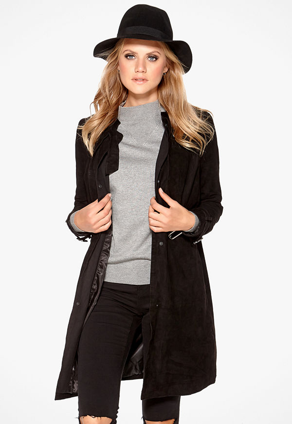 Object Aura Suede Trenchcoat