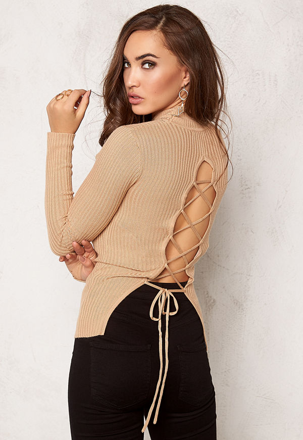 Bubbleroom Understated knitted rib polo
