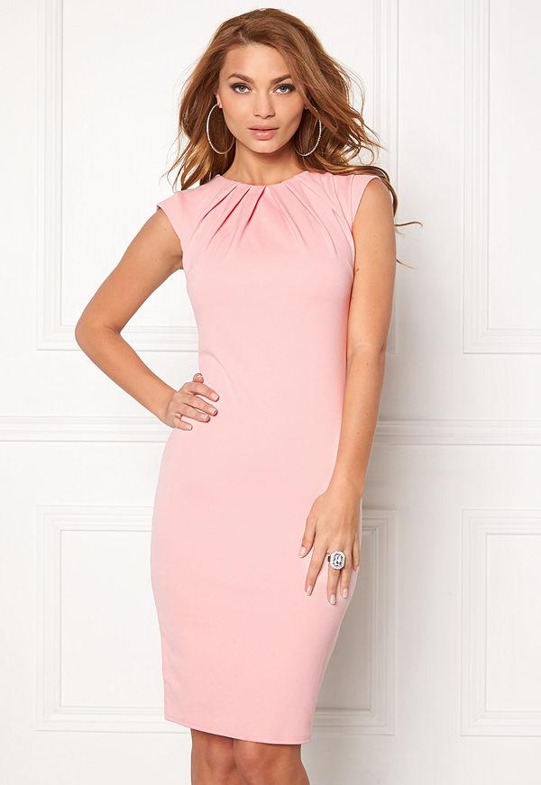 Goddiva Pleated Neckline Dress