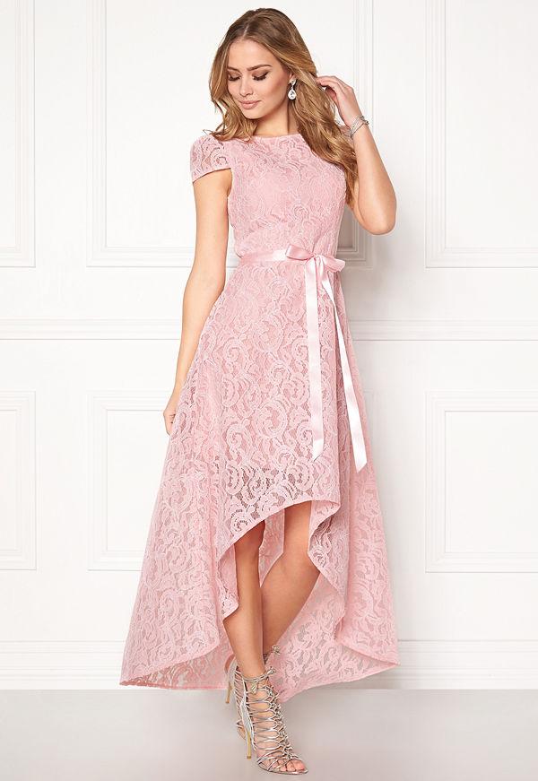 Goddiva Asymmetric Lace Dress