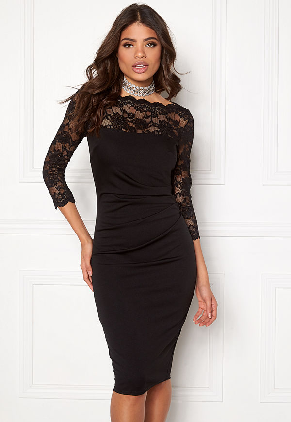 Goddiva Fitted Midi Dress