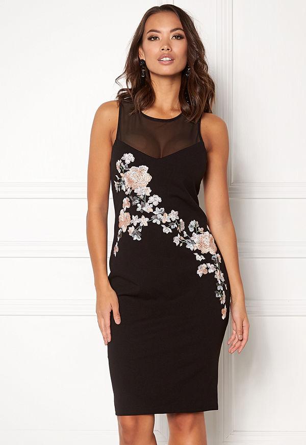 New Look Go Prem Mesh Insert Dress