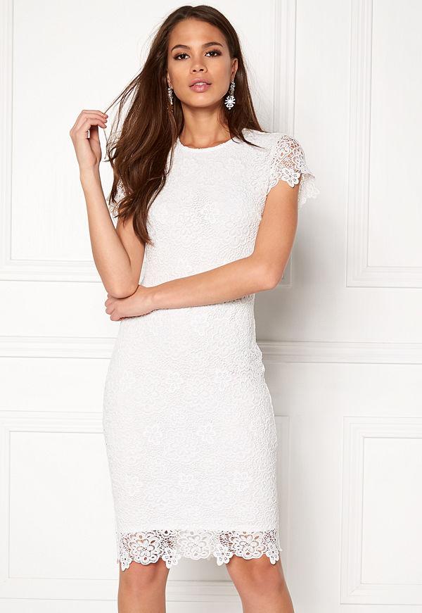 Bubbleroom Flora lace dress White