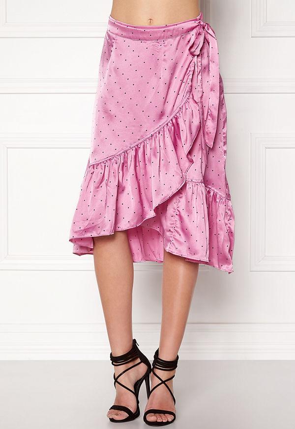 Vero Moda Henna Satin Wrap Skirt