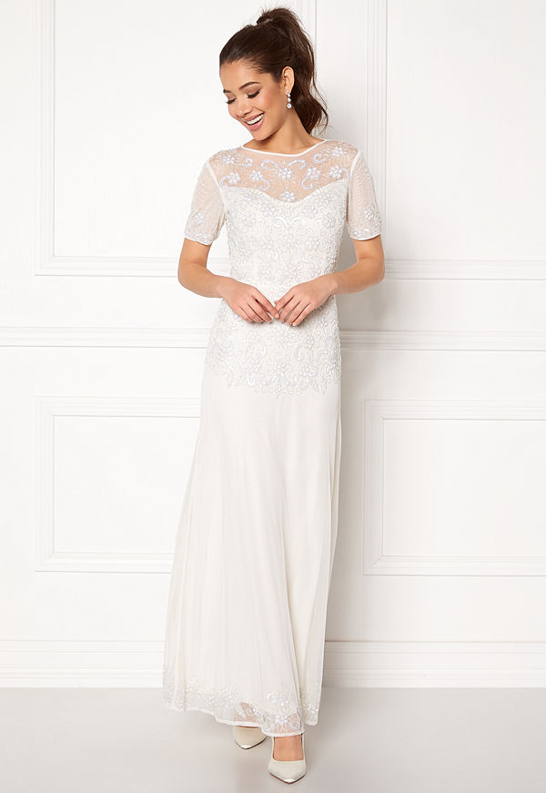 Angeleye Sequin Embellished Dress White