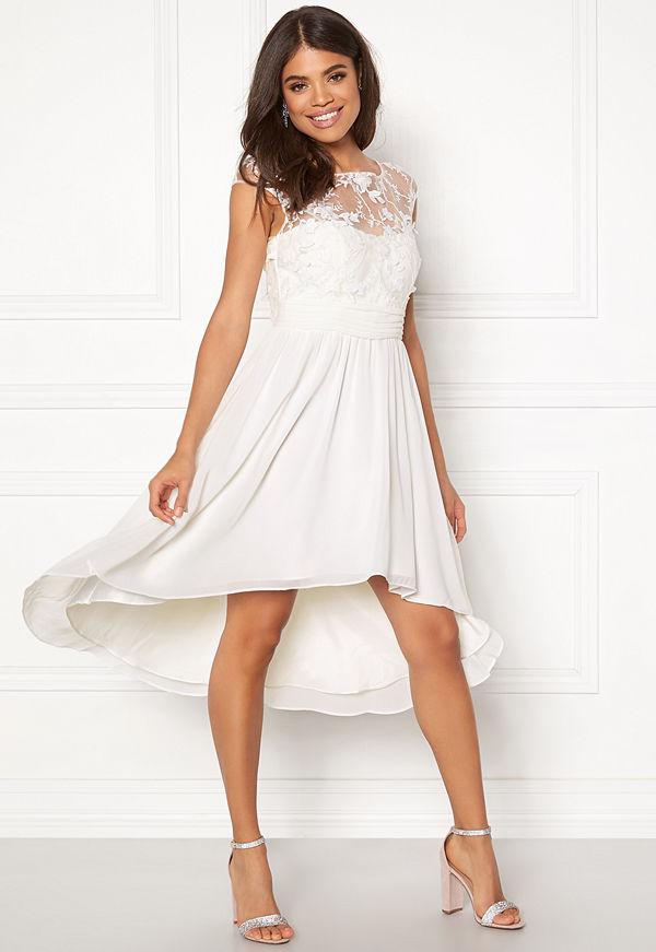 Goddiva Chiffon High Low Dress