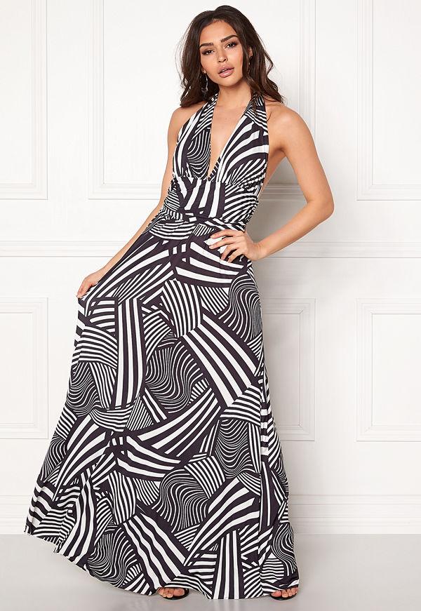 Goddiva Resort Halter Neck Maxi Dress