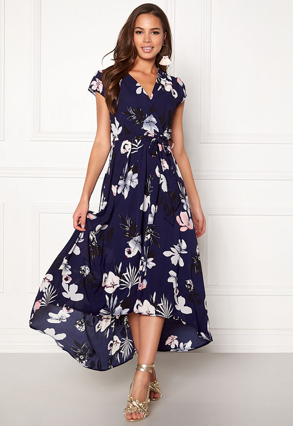 Ax Paris Floral Cap Sleeve Dress