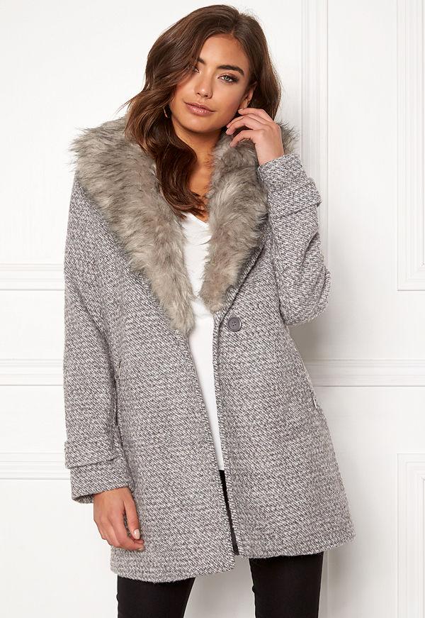 New Look Shawl Fake Fur Jacket