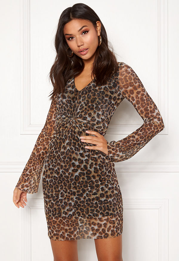 New Look Animal Plisse Twist Dress