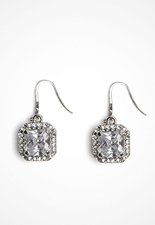 Love Rocks örhängen Square Glass Earring