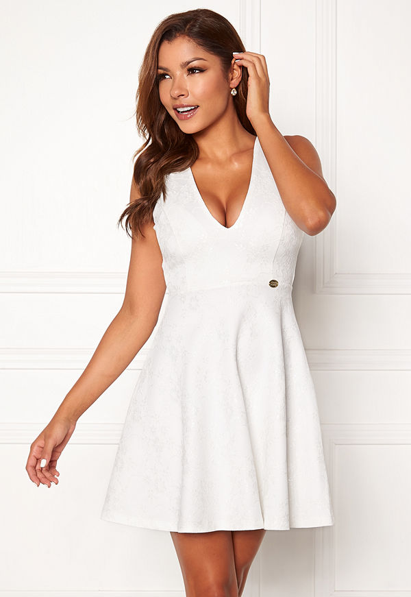 Chiara Forthi Sarina bonded lace dress White