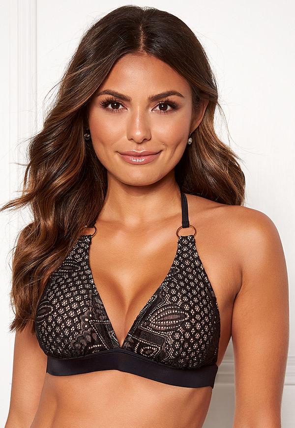 Happy Holly Emma lace bikini bra Black / Beige