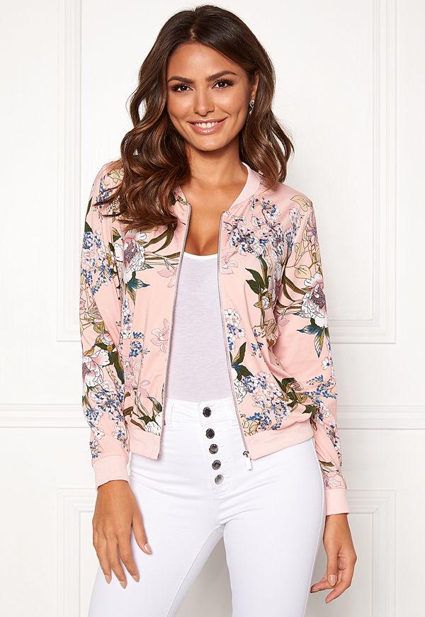 Happy Holly persikofärgad mönstrad bomberjacka Hanna jacket