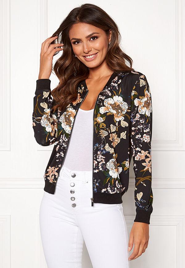 Happy Holly svart mönstrad bomberjacka Hanna jacket