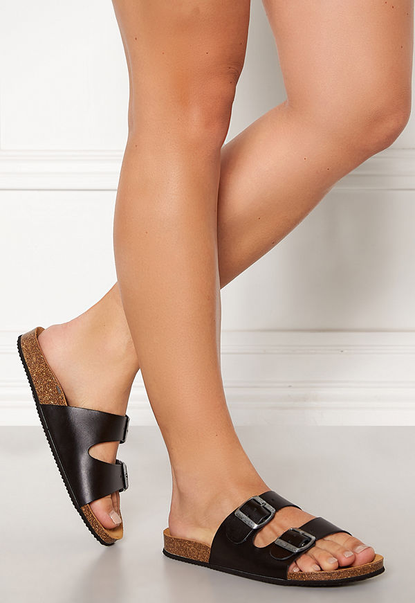 Pieces Coco Leather Sandals