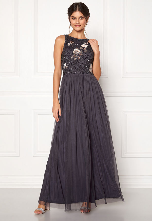Angeleye Sequin Bodice Maxi Dress