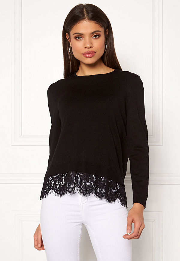 Only Cilla L/S Lace Pullover