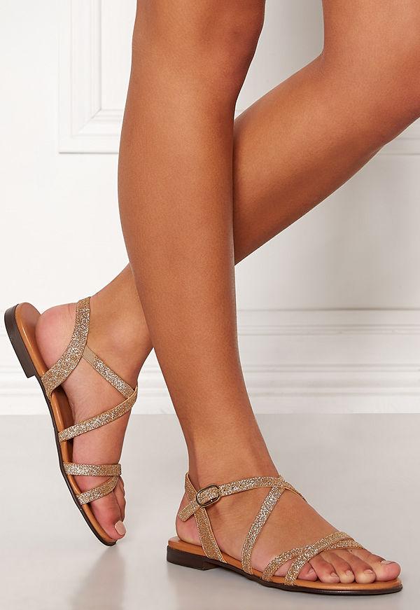 Billi Bi Gold Leather Sandals
