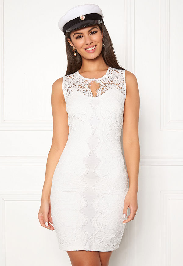 Chiara Forthi Corso scallop lace dress White