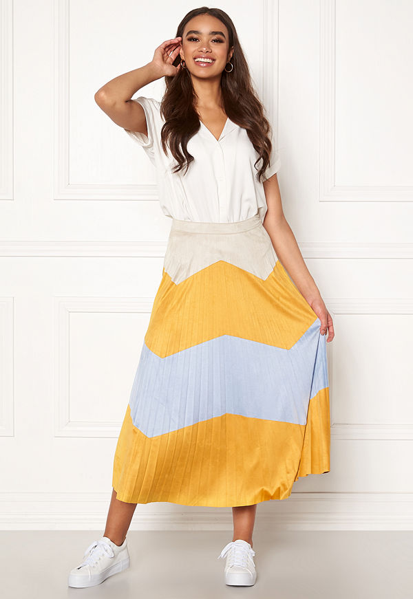 Only June Faux Suede Maxi Skirt