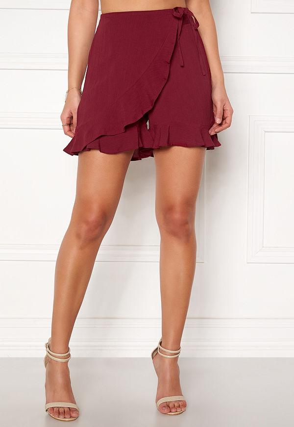 Happy Holly Tilly frill shorts Brick-red