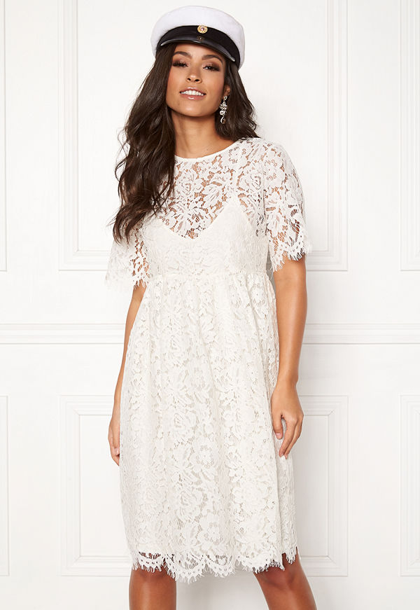 Pieces Gaia 2/4 Midi Lace Dress