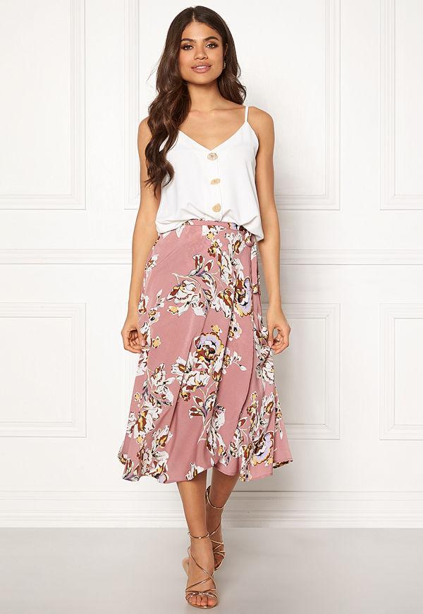 Blue Vanilla Floral Print Wrap Skirt