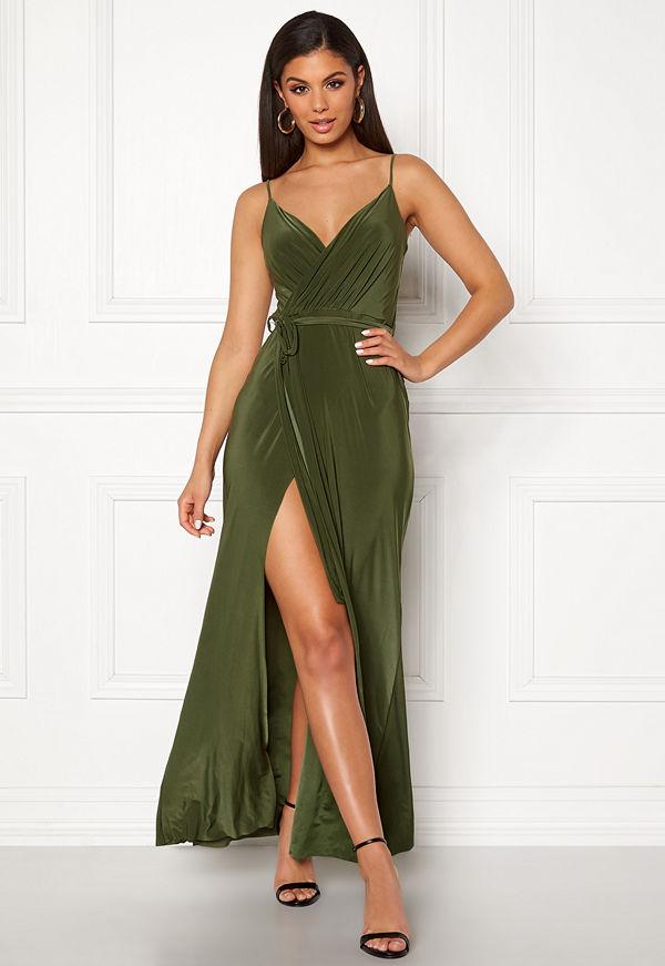 Goddiva Wrap Front Maxi Dress