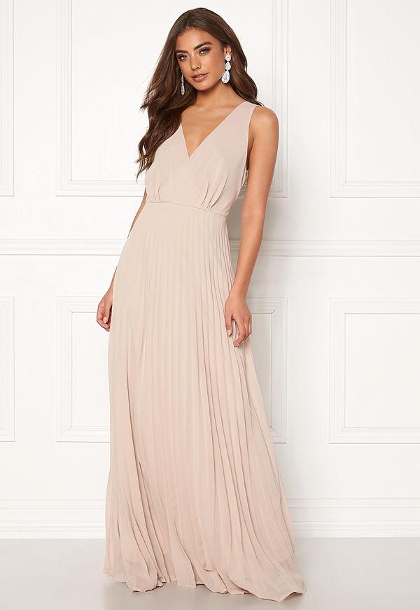 Ax Paris Lace Pleated Maxi Dress
