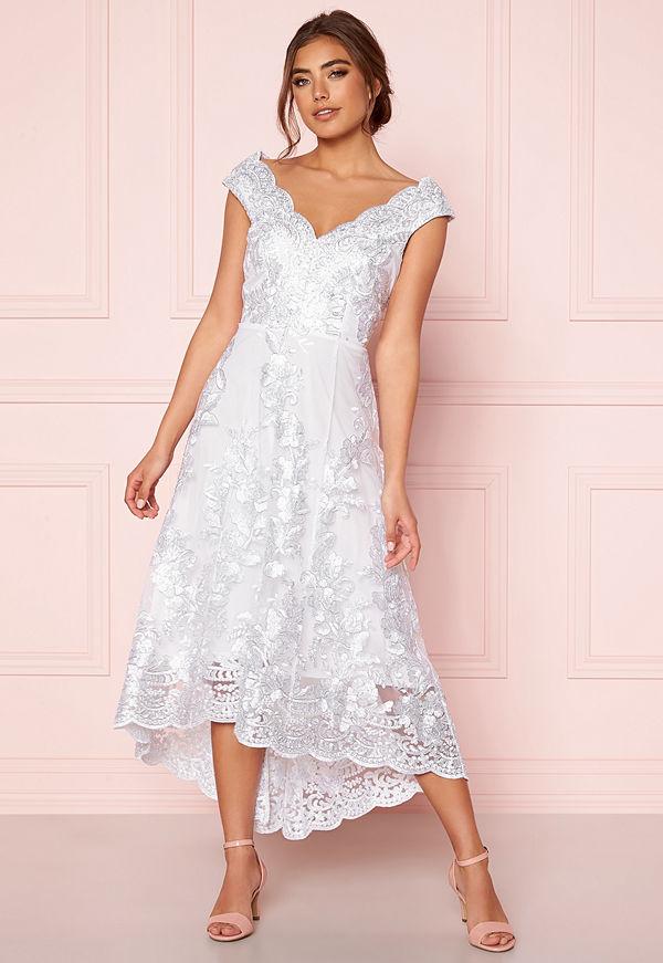 Goddiva Embroidered Lace Dress