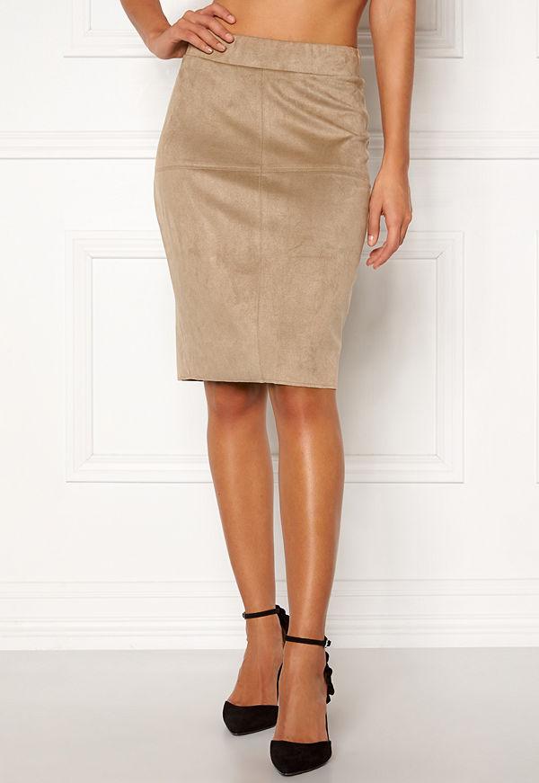 Happy Holly IDA suede look skirt