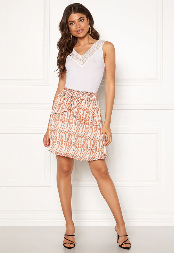 co'couture Golden Tiger Skirt Off White