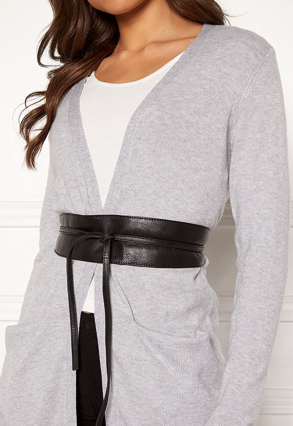 Pieces Vibs Leather Waist Belt
